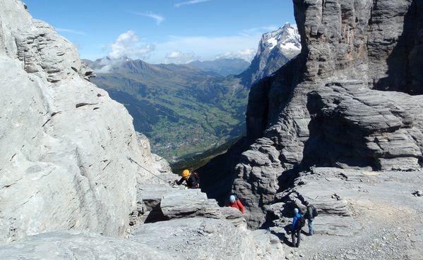 Klettersteig Eiger : Klettersteig rotstock eiger