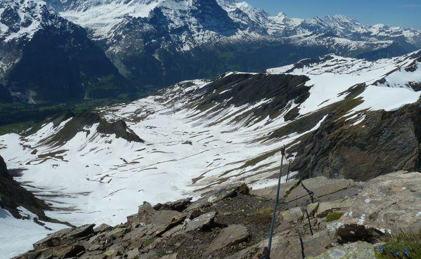 Klettersteig Grindelwald : Klettersteig schwarzhorn eiger